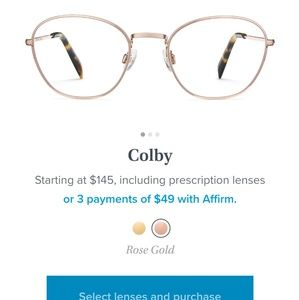 Warby Parker Colby glasses